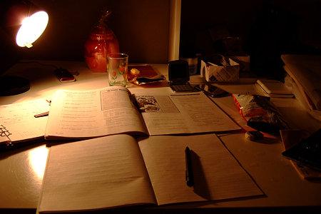 ホームステイ時の勉強机