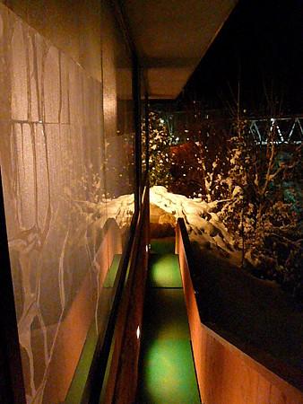 湯元白金温泉ホテル露天への外廊下