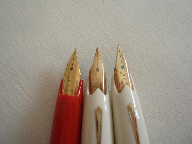 プラチナ万年筆 赤 未使用-17