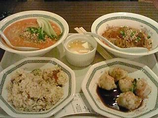 麻辣麺荘で夕飯
