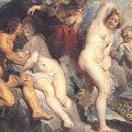 写真: ペーテル・パウル・ルーベンス1615ユノに欺かれるイクシオン-ルーブル美術館