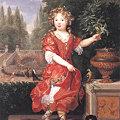 写真: ピエール・ミニャール1680ド・ブロワ嬢の肖像-ルーブル美術館