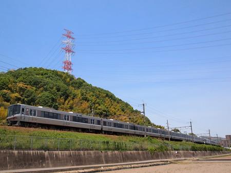 223系新快速  東海道本線島本~高槻2