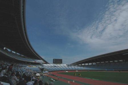 スタジアムの青空