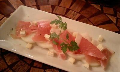 ポテトと生ハムのサラダ@Brasserie Cafe Bretagne
