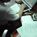 写真: テスト勉強中