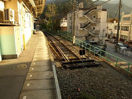 車止め(奥多摩駅)