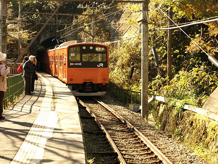 201系青梅線(白丸駅)