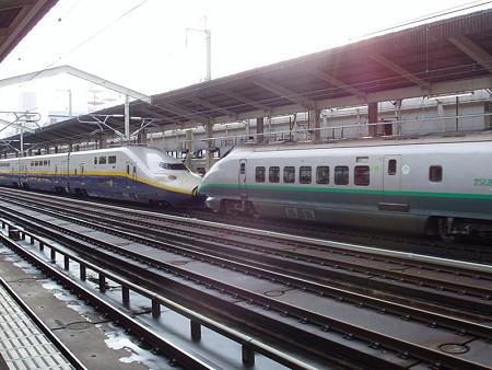 E4系+400系(郡山駅)