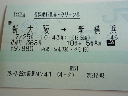 新幹線特急券・グリーン券