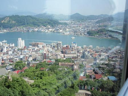 千光寺山ロープウェイの景色