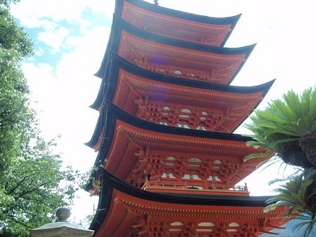 厳島神社の五重塔