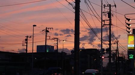 横浜の夕焼け