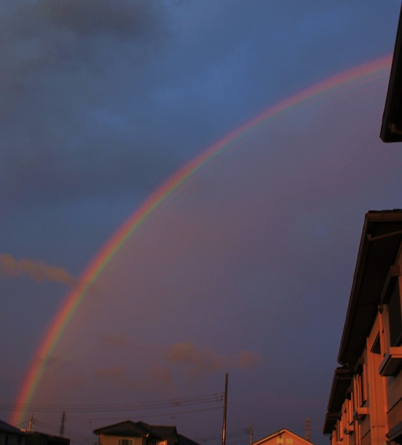 虹・・雨上がり   2