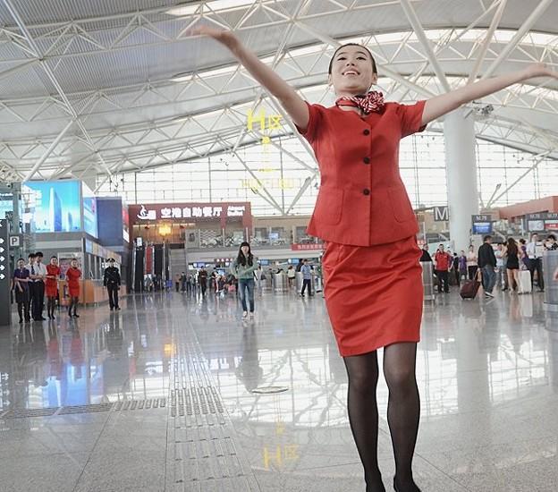 西安空港でフラッシュモブ? (7)