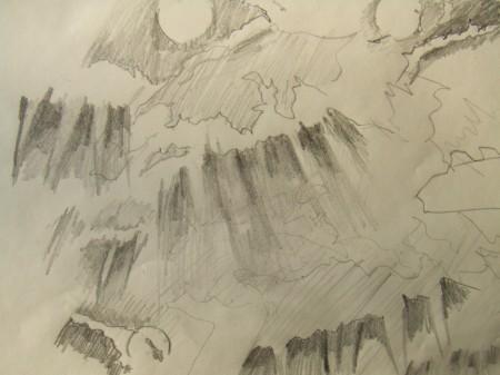 070609_水辺の森公園からみた雲間の斜光
