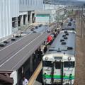 新幹線工事と江差線ホーム