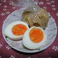 写真: 味噌漬けゆで卵