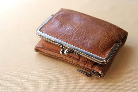 土屋鞄のがま口ポケット財布(現在)