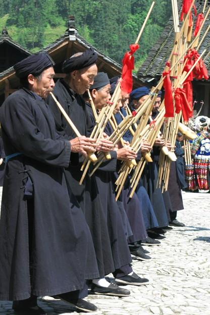 写真: 蘆笙の演奏
