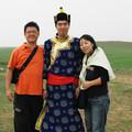 写真: モンゴル人(?)と