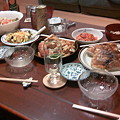 Photos: 食事会なメニューの一部