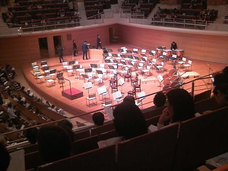 東京交響楽団第50回新潟定期は休憩中