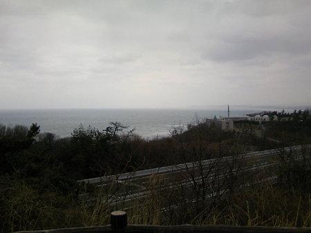 北陸自動車道米山SA上り線から見る日本海