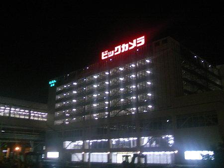 駐車場オープン前夜のCoCoLo南館