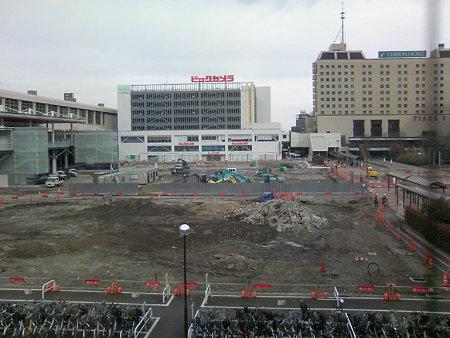 新潟駅南口工事状況(2008.2.11)