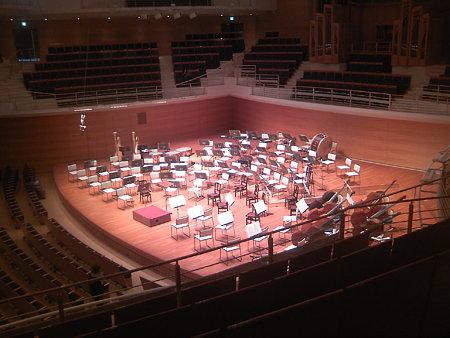 東京交響楽団第52回新潟定期のセッティング