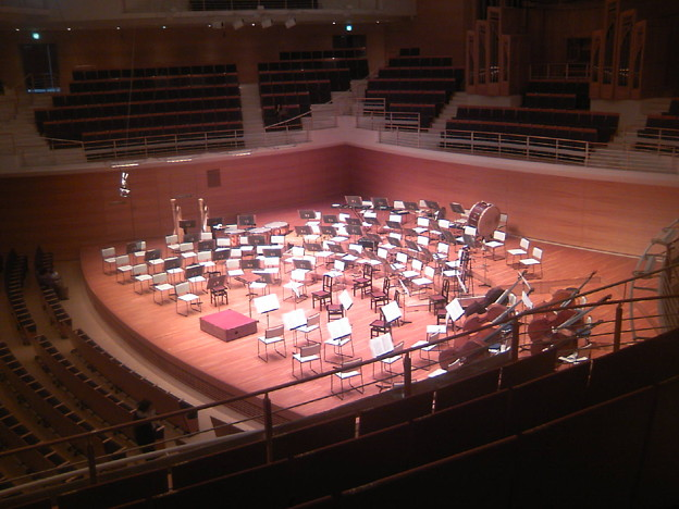 写真: 東京交響楽団第52回新潟定期のセッティング