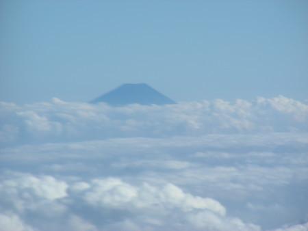 機上から見た富士山