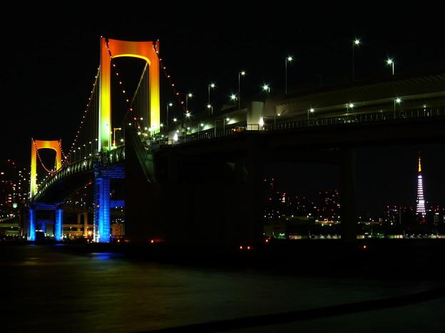 レインボーブリッジ と 東京タワー