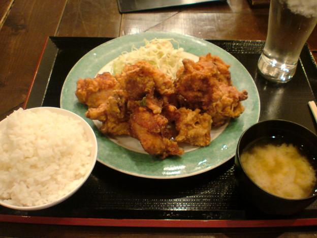 Photos: こめます 鶏唐揚げ定食(ダブル)