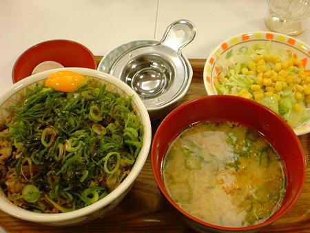 すき屋 ねぎ玉牛丼とん汁サラダセット