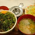 Photos: すき屋 ねぎ玉牛丼とん汁サラダセット