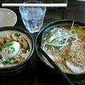 写真: 銀波露 醤油ラーメン+とろつくね丼