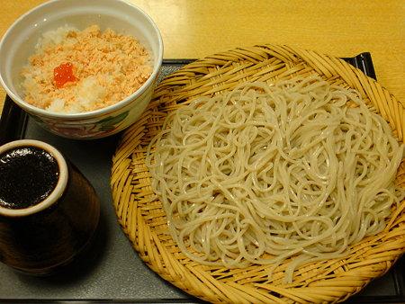信州庵 味定セット(鮭いくら丼)
