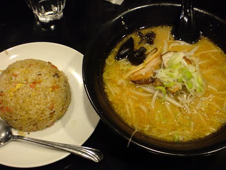 福八 味噌ラーメン+半チャーハン