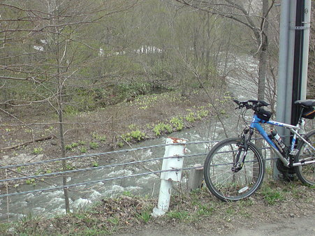 道々恵庭岳公園線 新旧道分岐
