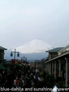 御殿場プレミアム・アウトレットから富士山見えた!
