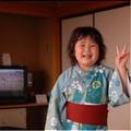 Photos: my-hpより 山形夏の旅 ホテルの浴衣でご機嫌の甥の娘