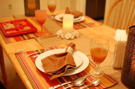 6年目の結婚記念日テーブル