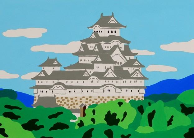 男山配水池公園からの姫路城