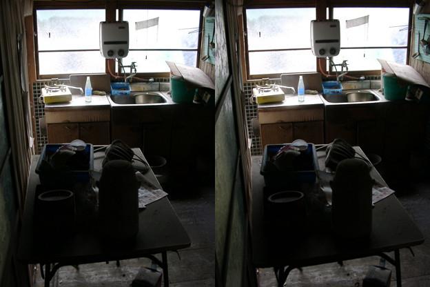 廃屋の台所