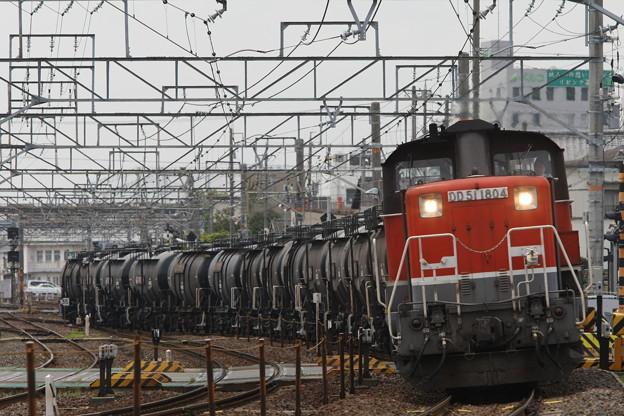 四日市港線から冨田へ向うセメント列車んを撮影