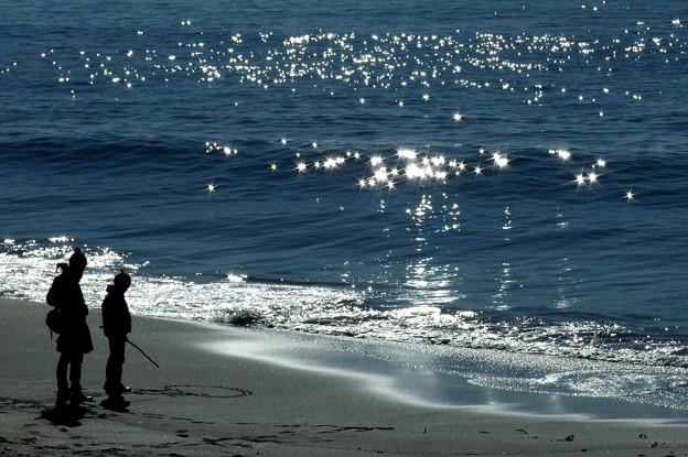 写真: きらきらの海