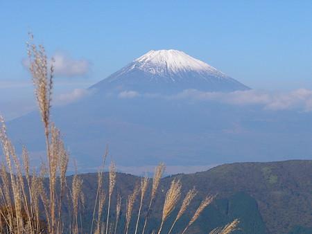 大湧谷から富士を望む