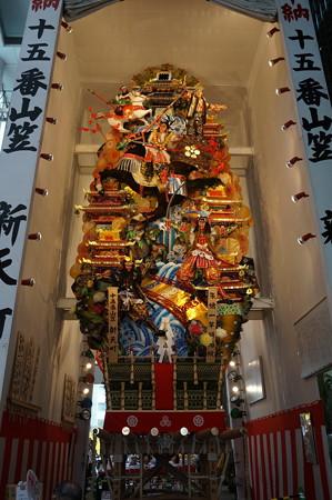 15 2014年 博多祇園山笠 飾り山笠 朱槍一竿傾而候 新天町 (4)